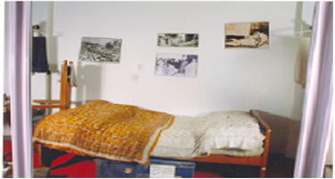 A BED ON WHICH DR. AMBEDKAR BREATHED HIS LAST